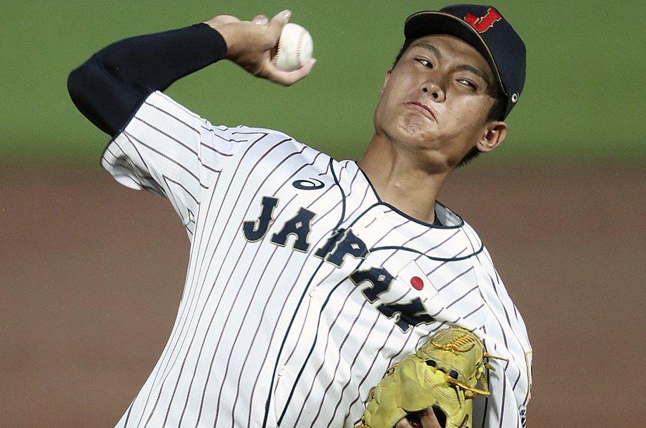 「派手なガッツポーズ」から1年。侍U18で際立つ、西純矢の吸収力。<Number Web> photograph by Kyodo News