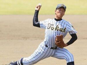 """高校球界に150km右腕が新たに2人!島孝明と藤平尚真の""""大物比べ""""。"""
