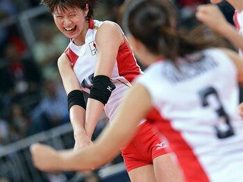 頼れるエース・木村沙織が大爆発!女子バレーが24年ぶりに準決勝進出。<Number Web> photograph by Kaoru Watanabe/JMPA