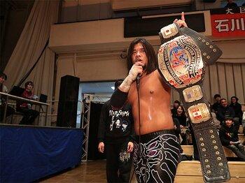 """プロレスの価値観を揺さぶる""""カリスマ""""DDT王者・佐々木大輔という男。<Number Web> photograph by DDT Pro-Wrestling"""