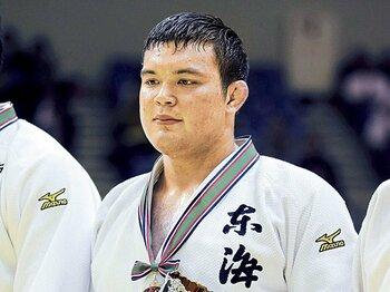 新星ウルフ・アロンは日本柔道の救世主となるか。~高校3冠の男は愛嬌顔?~<Number Web> photograph by KYODO
