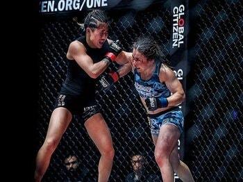 初上陸が噂されるONEで知名度を上げたV.V Mei。~アジアの女子格闘技界のトップにもっとも近い存在~<Number Web> photograph by ONE Championship