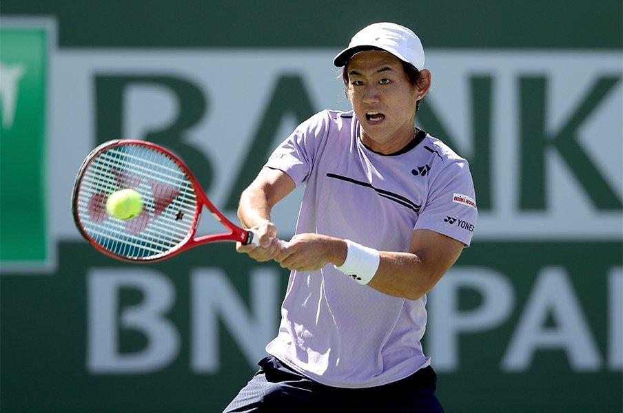 西岡良仁は男子テニス界の個性だ。身長170cmでトップ100という自負。<Number Web> photograph by Getty Images