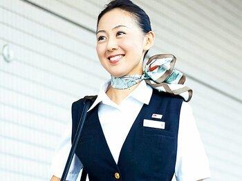 日本航空客室乗務員・荒川実結 「フライト後はしっかり走って時差を解消」<Number Web> photograph by Atsushi Hashimoto