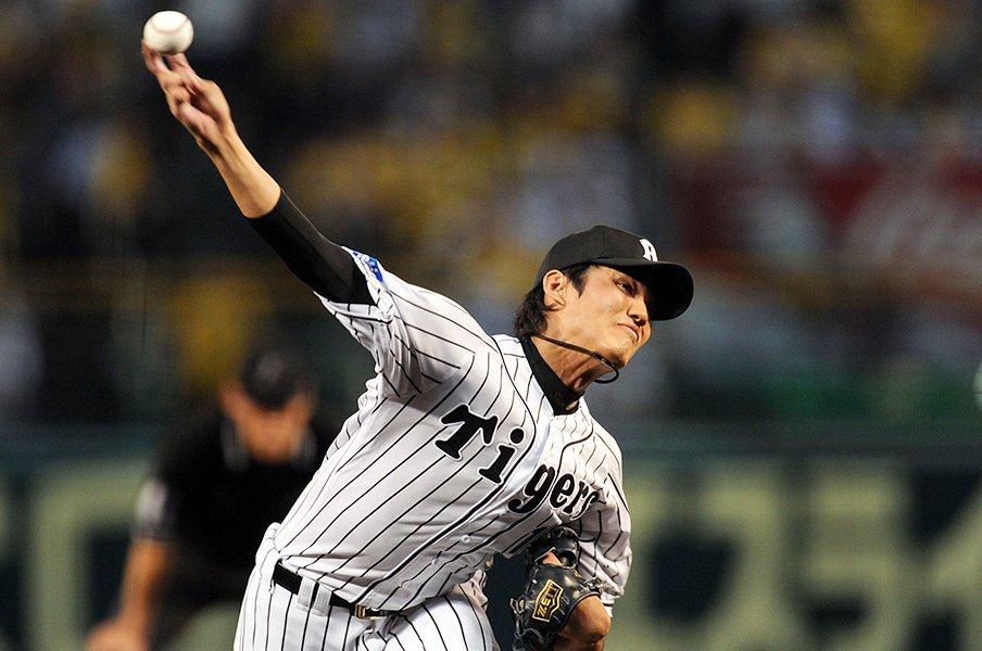 藤浪晋太郎が「エース」になった日。鶴岡の一言に滲んだチームの空気。<Number Web> photograph by NIKKAN SPORTS