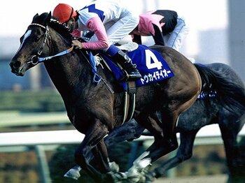 弾むように歩き、勝った奇跡の名馬。トウカイテイオー、天に召される。<Number Web> photograph by Tomohiko Hayashi