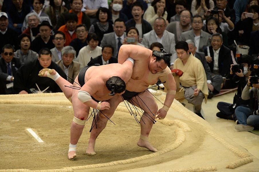 手負いの稀勢の里と戦った2人の関取。鶴竜と照ノ富士は何を感じていたか。<Number Web> photograph by JMPA