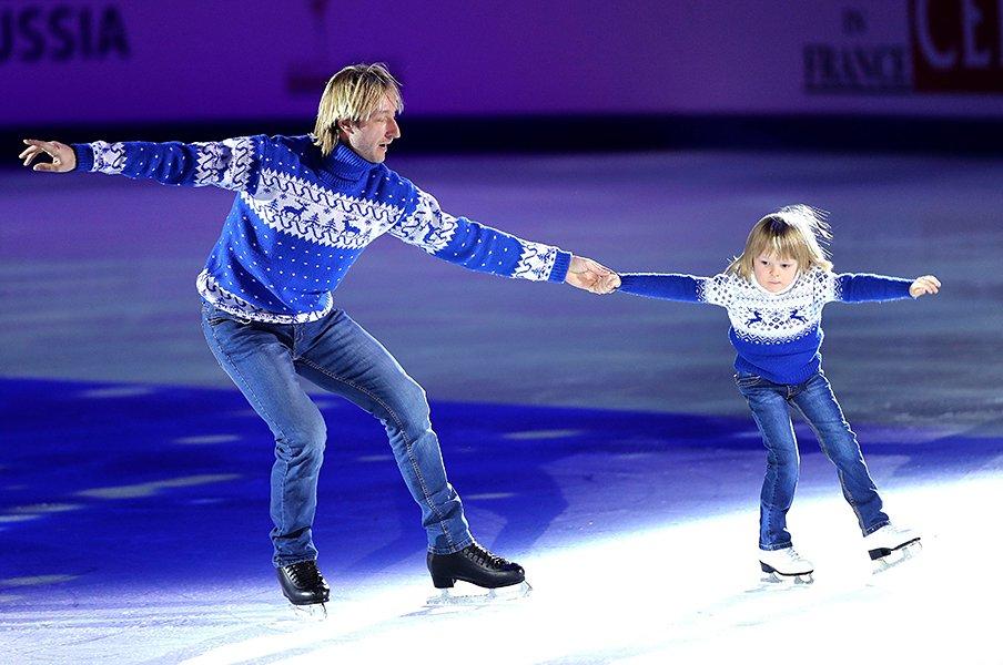 「ユヅルのほうがスケートが上手」プルシェンコが語る羽生結弦の実力。<Number Web> photograph by AFLO