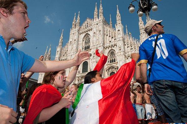 ミラノのイタリアサポーター