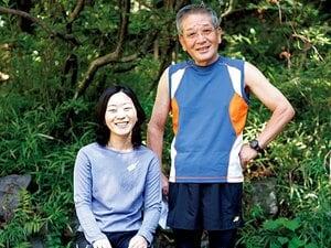 <私とラン> 市民ランナー・都築信彦&恵 「父と娘のマラソン二人三脚」