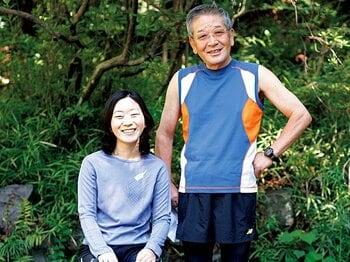 <私とラン> 市民ランナー・都築信彦&恵 「父と娘のマラソン二人三脚」<Number Web> photograph by Atsushi Hashimoto