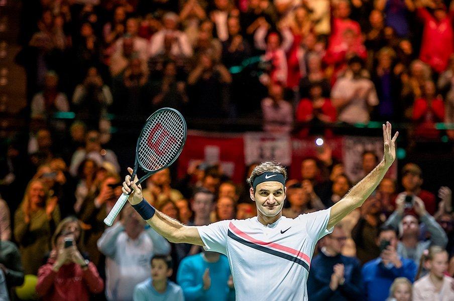 36歳フェデラーが世界1位を奪還。ヒーロー健在の幸せと待望の次代。<Number Web> photograph by Getty Images
