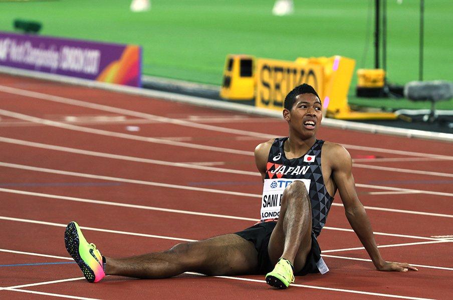 サニブラウンが世界陸上で得たもの。メダルへの距離、新たな「仲間」。<Number Web> photograph by AFLO