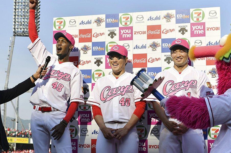 カープの20歳アドゥワ誠が頼もしい。先発でも際立つクイックとクセ球。<Number Web> photograph by Kyodo News