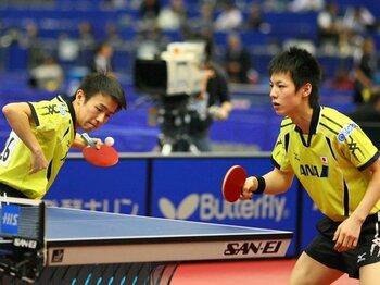 卓球男子、五輪残り1枠を賭けた激戦。ダブルスも共にする若き2人に注目。<Number Web> photograph by AFLO