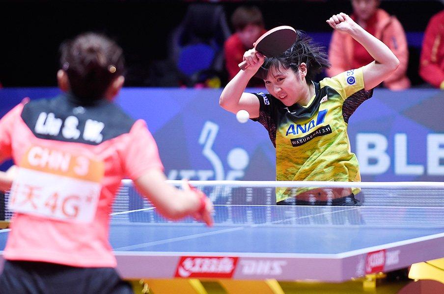 世界卓球決勝に見た「中国の壁」。日本女子はいつ越えられるのか?<Number Web> photograph by AFLO