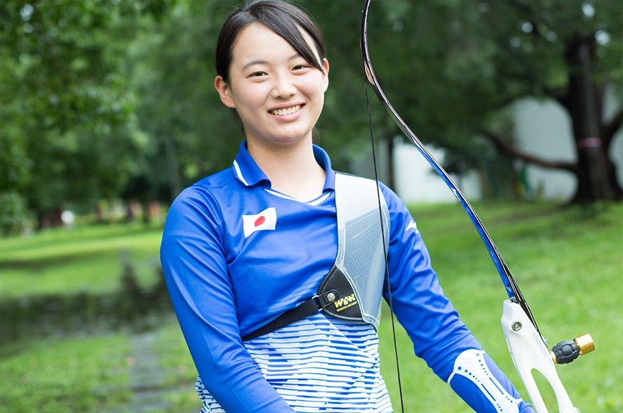 アーチェリー東京五輪候補は17歳。園田稚「もちろん出たいですけど」<Number Web> photograph by Asami Minami