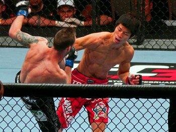 "UFC白星デビューを飾った日沖発の""胸を打つひと言""。~「ジャパニーズMMAは死んでない」~<Number Web> photograph by Susumu Nagao"