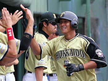 プロ初アーチ以降の11戦で8本塁打を放った中田