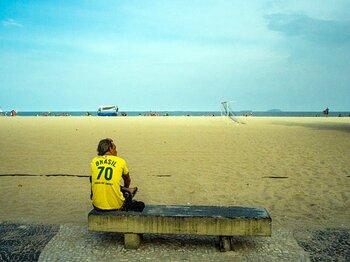 貪欲なブラジルが静かに優勝。お土産はダビド・ルイスの肘打ち。<Number Web> photograph by Atsushi Kondo