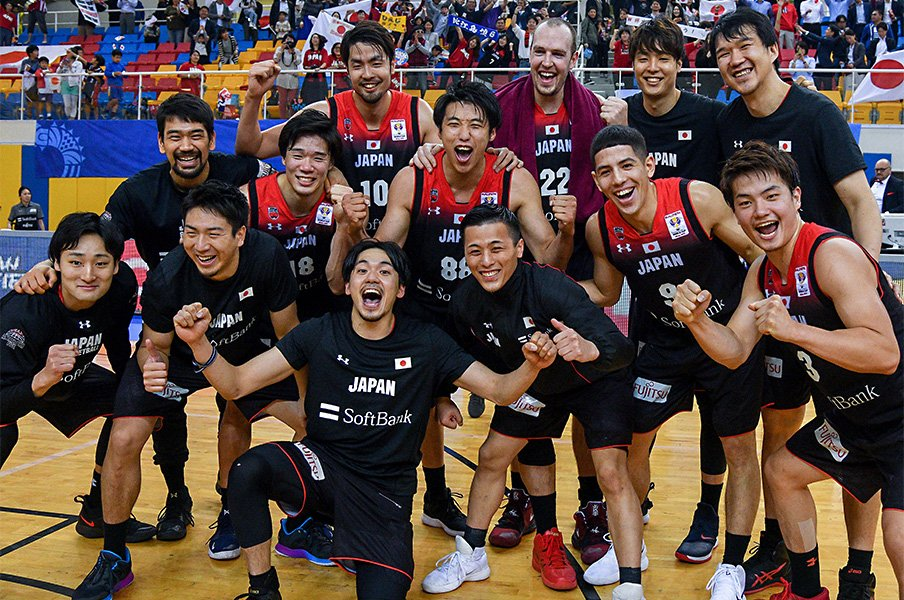 Bリーグ勢だけで格上相手に連勝。W杯出場バスケ日本、躍進の秘密。<Number Web> photograph by AFLO