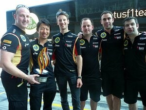 ドイツGPでグロージャンが表彰台に。それでも小松礼雄がうなだれた理由。