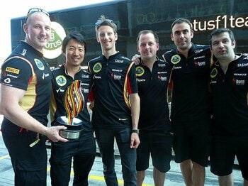 ドイツGPでグロージャンが表彰台に。それでも小松礼雄がうなだれた理由。<Number Web> photograph by Masahiro Owari