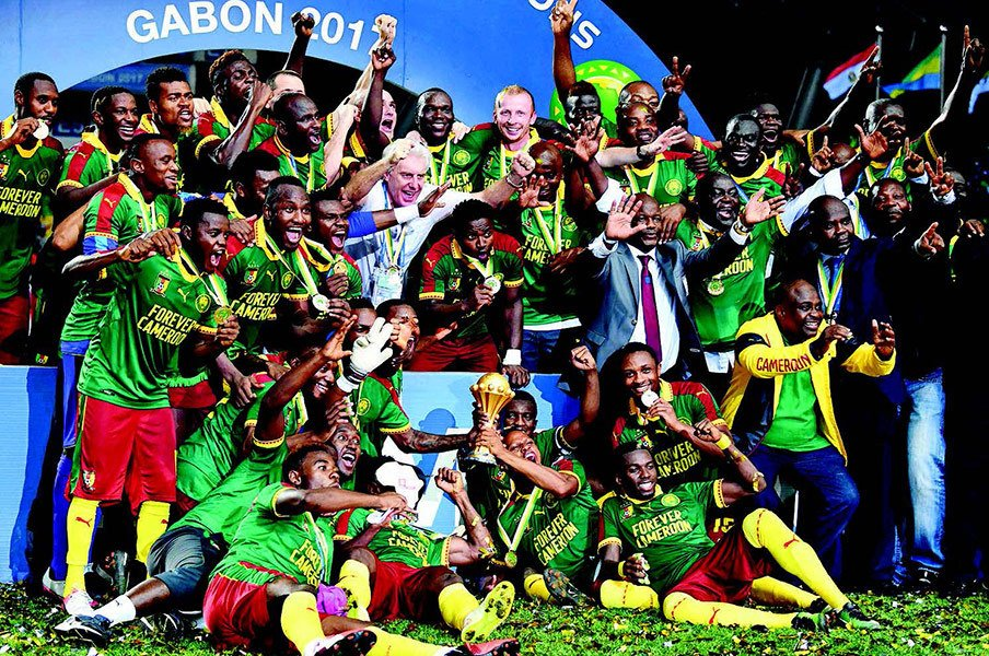ネーションズカップ7回優勝のエジプトに次いで優勝回数で2位(5回目)につけたカメルーン。