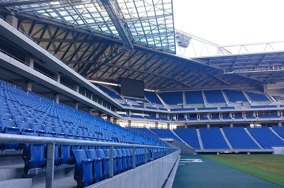"""驚愕したガンバの新スタジアム。募金140億円で作った""""手づくり感""""。<Number Web> photograph by Toshio Ninomiya"""