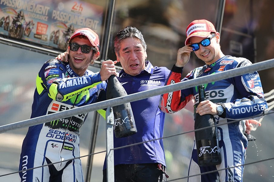 ロッシとロレンソ、14点差で日本へ。またしても「接触」は起こるのか。<Number Web> photograph by Satoshi Endo