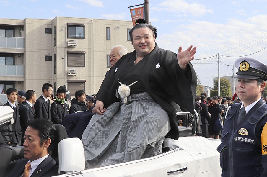 2018年、大相撲の歴史が変わった。押し出しが寄り切りを初めて上回る。<Number Web> photograph by Kyodo News