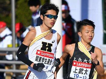 慶應・根岸が走った8区は実は……。24年前に同じ道を走った1人の男。<Number Web> photograph by AFLO