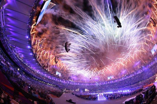 スタジアム全体を包んだ、鮮やかな花火。~ロンドン五輪2012~