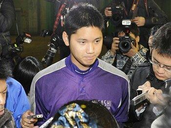 高3・大谷翔平のボールを受けた日。「超高速変化球投手」という新種。<Number Web> photograph by Kyodo News