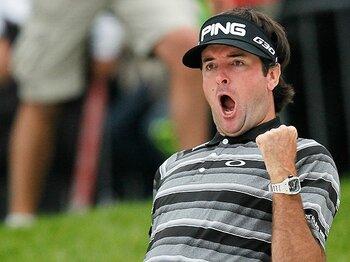 """日本を飛び出すスポンサー企業たち。男子ゴルフに必要な""""内から外""""。<Number Web> photograph by AFLO"""