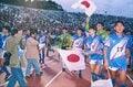 1992年のアジア杯制覇を成し遂げ、歓喜に沸くオフトジャパン。若き日のカズ、森保一の姿も。 / photograph by Kazuaki Nishiyama