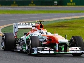 好調フォースインディアのしたたかなコース外戦略。~F1中堅チームに出た明と暗~<Number Web> photograph by Getty Images