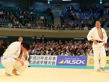 男子重量級の人材不足の露呈も……。柔道全日本選手権、穴井隆将が有終。<Number Web> photograph by AFLO