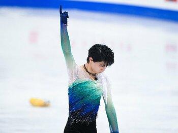羽生結弦がフリーで見せた王者の気迫。宇野2位で初メダルとなった世界選手権。<Number Web> photograph by Asami Enomoto