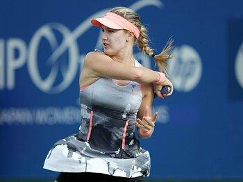 シャラポワ2世の呼び声、ブシャールが日本で開花。~19歳が背負う女子テニスの未来~<Number Web> photograph by Hiromasa Mano