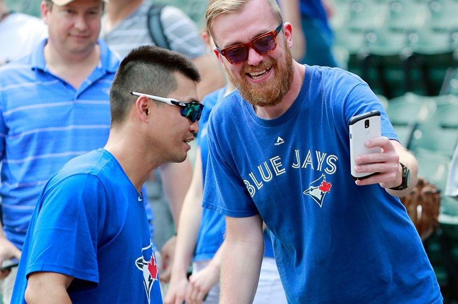 青木宣親にムネリン遺産の追い風!?「Welcome to Toronto」の第一歩。<Number Web> photograph by AFLO