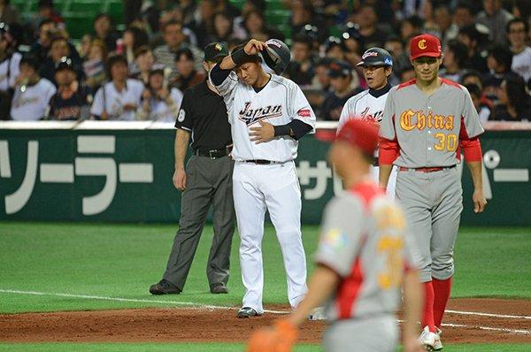 野手最年少・中田翔。WBC初打席で初安打初打点。