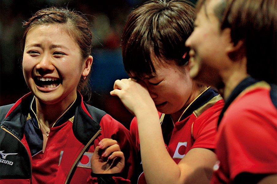 元監督が明かす歓喜の裏側。卓球女子団体、ロンドン五輪の秘策。<Number Web> photograph by Asami Enomoto/JMPA