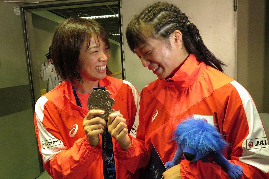 女子レスリングが急激にV字復活!要因は選手とコーチの信頼関係。<Number Web> photograph by Koji Fuse
