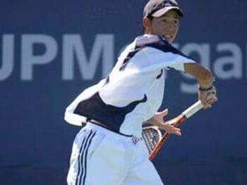 日本男子テニスの至宝、ただいま赤丸急成長中。<Number Web> photograph by Hiromasa Mano
