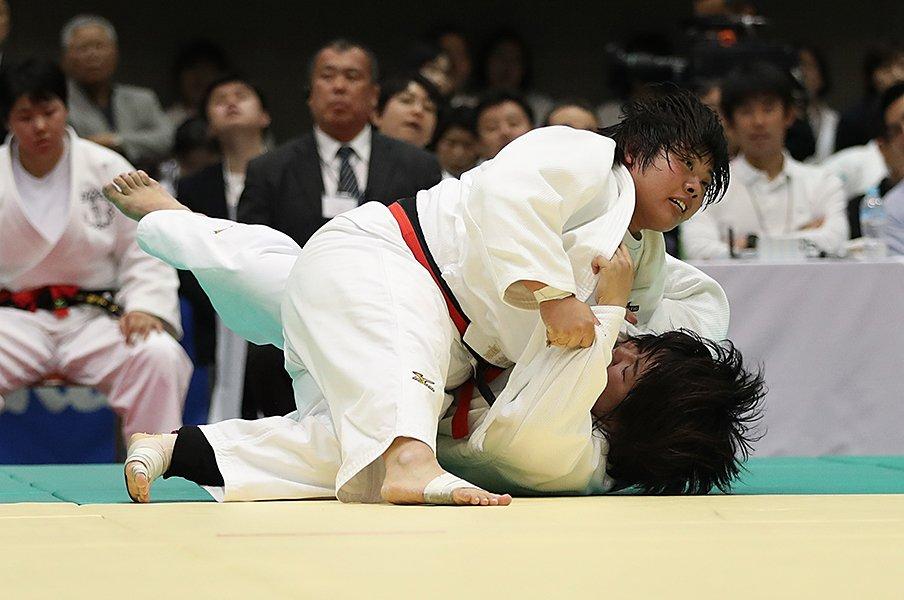 女子柔道78kg超級の争いが熾烈。素根輝、2020年で「笑うのは自分」。<Number Web> photograph by Getty Images