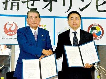 """東京五輪を見据え、新ルールを導入した極真空手の未来は。~""""地上最強の空手""""のイメージはどこまで変わるか~<Number Web> photograph by KYODO"""