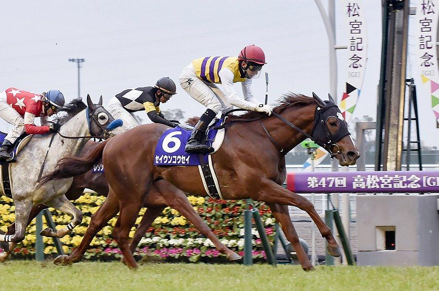 """高松宮記念、昨年王者は""""正騎手""""と。セイウンコウセイと松田大作の物語。<Number Web> photograph by Kyodo News"""