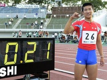 """""""世界一""""速い16歳。~100m10秒19、桐生祥秀の将来性~<Number Web> photograph by Kyodo News"""