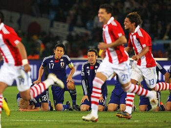 日本は戦った。チャンスはあった。アンチ・フットボールではなかった!<Number Web> photograph by Getty Images